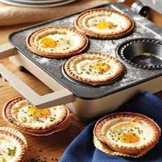 Egg Breakfast Pies!  another great idea for how to serve individual egg dishes and of course would be soooo perfect for  a fancy breakfast and or brunch!!!!!