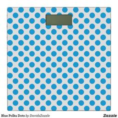 Blue Polka Dots Digital Scale  Available on many products! Hit the 'available on' tab near the product description to see them all! Thanks for looking!  @zazzle #art #polka #dots #shop #home #decor #bathroom #bedroom #bath #bed #duvet #cover #shower #curtain #pillow #case #apartment #decorate #accessory #accessories #fashion #style #women #men #shopping #buy #sale #gift #idea #fun #sweet #cool #neat #modern #chic #laptop #sleeve #blue #white