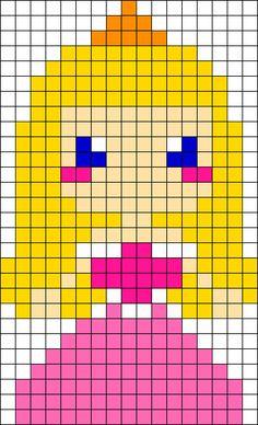 Kandi Patterns for Kandi Cuffs - Characters Pony Bead Patterns Melty Bead Patterns, Kandi Patterns, Perler Patterns, Beading Patterns, Perler Bead Templates, Diy Perler Beads, Perler Bead Art, Pixel Art, Cross Stitching