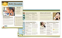 High school newsletter word template publisher template child development school newsletter template by spiritdancerdesigns Gallery