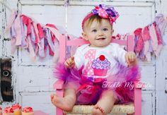 "Cupcake Swirl ""Ella"" Birthday Tutu Outfit"