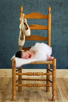Baby -- maybe a more feminine chair with the ballet slippers ?? And a pink or purple cap.