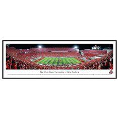 Ohio State Buckeyes Football Stadium Script Framed Wall Art, Multicolor