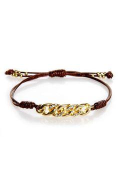 Cool Friendship Bracelet - Gold Bracelet - Rhinestone Bracelet - $11.00