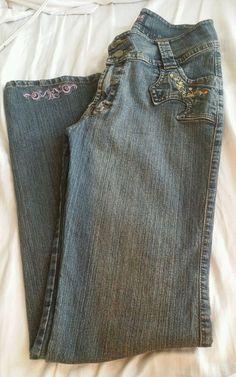 D' Jeans Denim Jeans Medium Wash Sz 12 #DJeans #StraightLeg