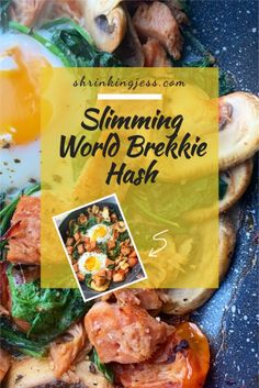This delicious brekkie hash will keep you full until lunch! Completely syn free and filling you really can't go wrong with this one! Vegetarian Breakfast, Vegetarian Dinners, Vegetarian Recipes, Healthy Recipes, Slimming World Dinners, Slimming World Breakfast, Syn Free, Cherry Tomatoes, Free Food
