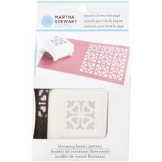 Martha Stewart Crafts Pattern Punch All Over the Page Scrapbook, Blooming Hearts >>> Be sure to check out this awesome product.