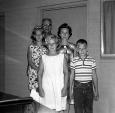 My family stopping at a hotel (rare occurrence) on a trip back from visiting our grandparents in Tucson, Arizona.