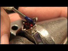 Stone Setting by @Lynn Ruby, Inc. Learn how to set a stone in a 6-prong marquise setting.