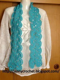 Janny crochet Bufanda de verano