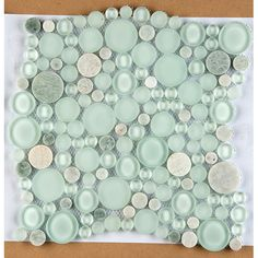 Found it at Wayfair - Lucente Random Sized Glass Pebble Tile in Lazzaro