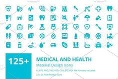 125+ Medical and Health Icons by Creative Stall on @creativemarket