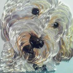 Paper Art Dog Portrait