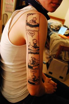i would never get a cartoon tattoo... but if i did C for sure.