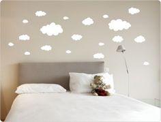Stunning Details zu Wandtattoo Wolken Kinderzimmer Wanddeko Baby Schlafzimmer Aufkleber