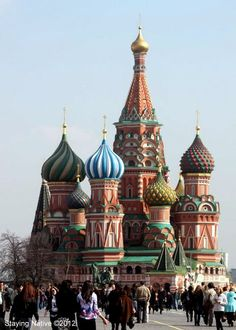 Colourful and whimsical - St. Basil's Cathedral in Moscow