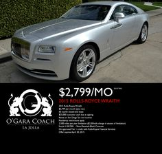View O'Gara Coach San Diego's cars for sale in San Diego CA. We have a great selection of new and used cars, trucks and SUVs. Rolls Royce Wraith, Used Cars, Lease Specials, Cars For Sale, San Diego, Cars For Sell