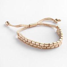 LC Lauren Conrad Gold Tone Slipknot Bracelet