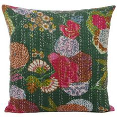 Tropicana Pillowcase 50x50 Green, 17€, by Eyes Of India !!