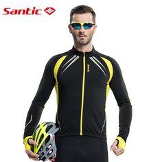 Santic Men Cycling Jacket Cycling Jersey Long Bike Winter Spring Cycling Jackets Cycling Male Thermal Jerseys