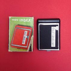 miniature mini telephone dial index address phone book in black file boxed eagle brand 60s 1960s