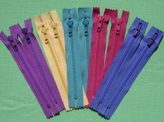 YKK Zippers 7 inch  assorted colors  Lot of 10 by CabinLil on Etsy, $5.00