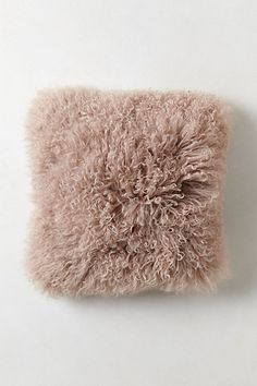 Luxe Fur Pillow #anthropologie  Inspired by Grandin Road Purple Thistle.