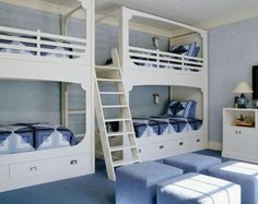 #Nautical themed #bunkbeds - perfect for sharing!