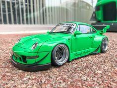 Liberty Walk, Racing Wheel, Porsche, Car, Vehicles, Green, Model, Automobile