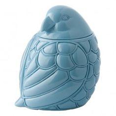 Beryl bluebird ceramic container