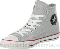 Gris Jaspeado Converse All Star Sweat Hi Calzado SO42063