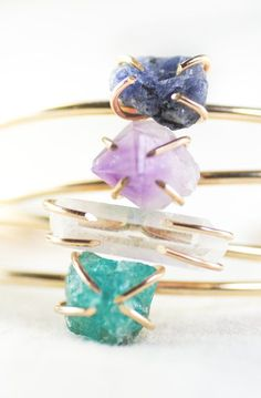 Kai cuff bracelet gemstone cuff gold bracelet