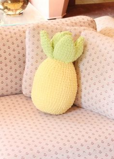 Crochet Pineapple Pillow Hawaiian Pineapples Pineapple Cushion Baby Shower Gift Kids Room Decor Accent Pillows Pineapple Home Decor Yellow Kids Rooms, Hanging Fabric, Pineapple Crochet, Baby Yellow, Easter Crafts For Kids, Craft Stick Crafts, My New Room, Throw Pillows, Accent Pillows