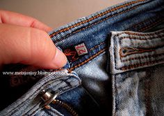 How to expand the waist of jeans, shorts, or pants.  It only increases 1-2.5 inches. Tutorial.