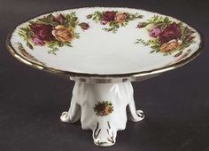 Swansea Comport in the Old Country Roses pattern by Royal Albert China