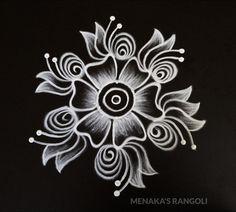 Easy And Simple Flower Rangoli Design Rangoli Designs Peacock, Easy Rangoli Designs Diwali, Indian Rangoli Designs, Rangoli Designs Latest, Rangoli Designs With Dots, Rangoli Patterns, Mehndi Designs, Simple Flower Rangoli, Simple Rangoli Border Designs