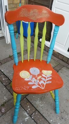 Garden chair designed by truly unique shabby chic Lynda Robinson lyn644@hotmail.com