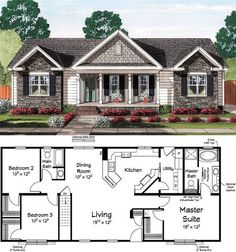 Classic curb appeal housing house plans i love small houses plans cottage classic curb appeal housing . House Plans One Story, New House Plans, Dream House Plans, Small House Plans, House Design Plans, House Layout Design, Small House Layout, Floor Plans 2 Story, Sims House Plans