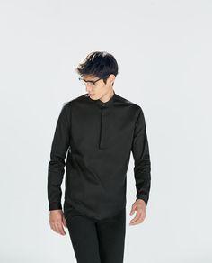c4695ef23 ZARA - MAN - MAO COLLAR SHIRT Zara Man, Collar Shirts, My Man,