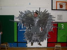 Super successful fundraising event - each dollar donated buys a foot long piece of duct tape to tape the principal to the wall. It would be awesome if we could do this in our FRG. Fundraising Companies, Fundraising Activities, Fundraising Events, Mystery Box, Fete Ideas, Stag And Doe, Show Me The Money, School Fundraisers, Kids Church