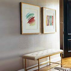 Que bonitos quedan las acuarelas abstractas en este recibidor.  #abstractart  #arte #arteabstracto #abstracto  #art #decoracion #decor #interiorismo #interiordesign #interior  #cuadrosporencargo . #painting #commision #colorfull #elenacalonje #watercolor #acuarela #artcollector  #twitter