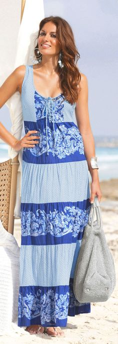 plus size sun dress - fifty plus prshots - click to read at http://boomerinas.com/2013/03/beach-cover-ups-for-women-plus-size-tunics-dresses-caftans-sarongs/