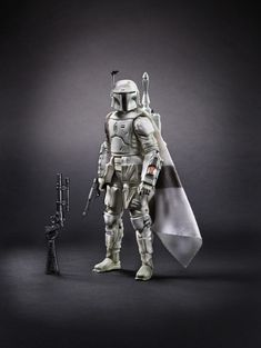 White prototype Boba Fett action figure