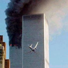 plane about to crash into world trade center 2 tower on sept 11 2001. This picture represents almost the exact moment I awoke that morning - when I looked at the TV and gasped in disbelief