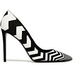 Nicholas Kirkwood Chevron Pumps (2 175 ZAR) ❤ liked on Polyvore featuring shoes, pumps, black, chevron shoes, kohl shoes, chevron print shoes, black shoes and nicholas kirkwood