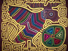 Kuna Indian Tribe Airplane Bird Mola Panama San Blas-12.62437