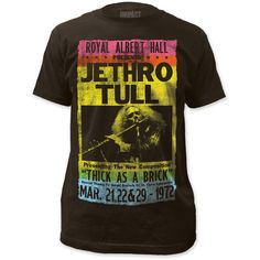 Jethro Tull T-shirt - Royal Albert Hall March 1972 Concert Show Performances Advertisement Poster Vintage Rock T Shirts, Vintage Concert T Shirts, Vintage Band Tees, Concert Tees, Rock Concert, Band Merch, Band Shirts, Jethro Tull, Royal Albert Hall