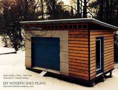 Considering a garden shed? Thinking about building it yourself? Then before you embark on your project make sure you have a reliable shed plan for the design you have in mind. Building your own shed can without doubt cut costs but Off Grid, Man Shed, Clutter Solutions, Modern Shed, Build Your Own Shed, Shed Building Plans, Building Ideas, Building Layout, Shed Kits