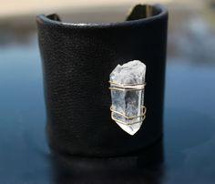 leather & quartz cuff <3 Look, Nancy!