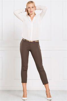 İRONİ DAR PAÇA HAKİ PANTOLON Capri Pants, Fashion, Moda, Capri Trousers, Fashion Styles, Fashion Illustrations